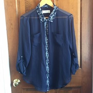 Abercrombie & Fitch button down sheer top